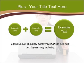 Serious businesswoman PowerPoint Template - Slide 75