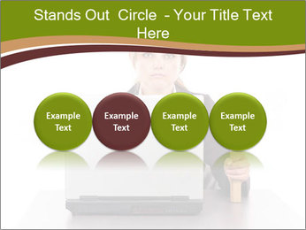 Serious businesswoman PowerPoint Template - Slide 76