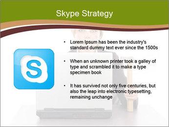 Serious businesswoman PowerPoint Template - Slide 8