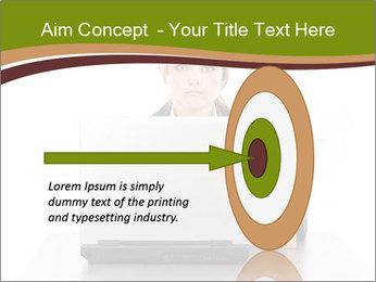 Serious businesswoman PowerPoint Template - Slide 83