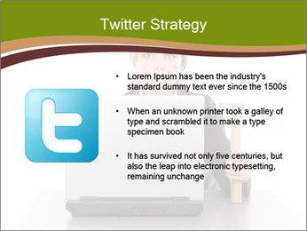 Serious businesswoman PowerPoint Template - Slide 9