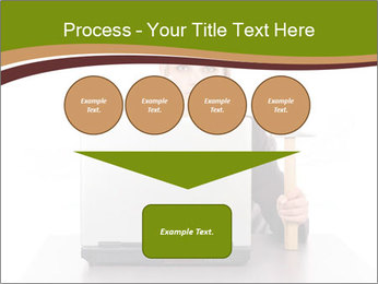 Serious businesswoman PowerPoint Template - Slide 93