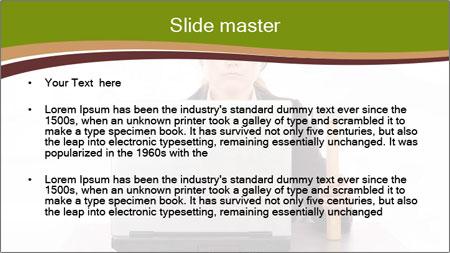 Serious businesswoman PowerPoint Template - Slide 2