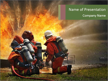 Firefighters PowerPoint Templates - Slide 1