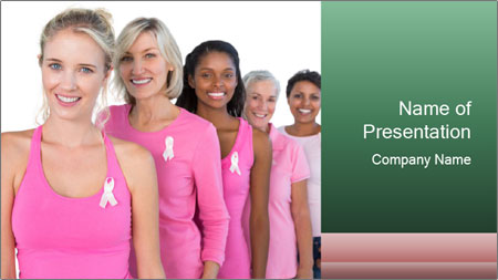 Smiling women PowerPoint Template