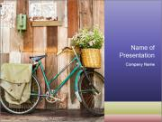 Vintage bicycle PowerPoint Templates