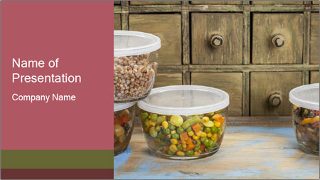 Dinner leftovers PowerPoint Template