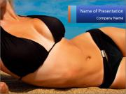 Beautiful slender figure PowerPoint Templates