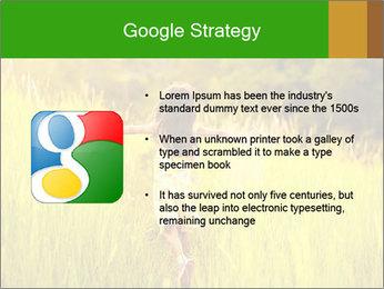 Girl running PowerPoint Template - Slide 10