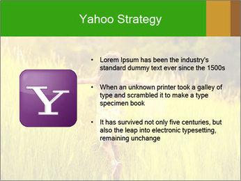 Girl running PowerPoint Template - Slide 11