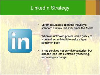 Girl running PowerPoint Template - Slide 12