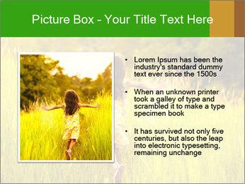 Girl running PowerPoint Template - Slide 13