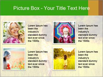 Girl running PowerPoint Template - Slide 14