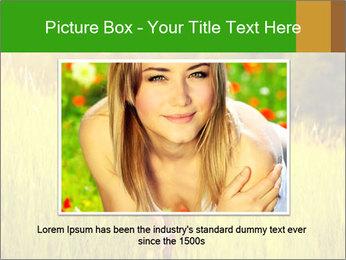 Girl running PowerPoint Template - Slide 16