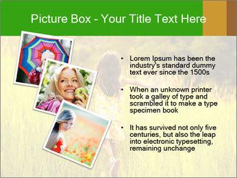 Girl running PowerPoint Template - Slide 17