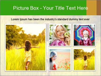Girl running PowerPoint Template - Slide 19