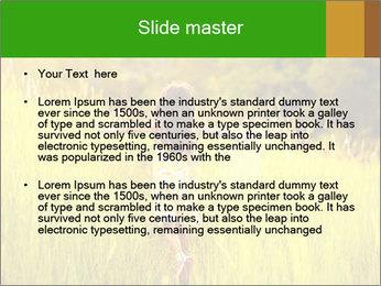 Girl running PowerPoint Template - Slide 2