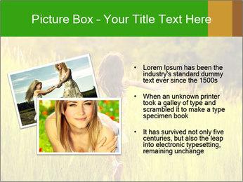 Girl running PowerPoint Template - Slide 20