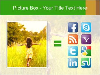 Girl running PowerPoint Template - Slide 21