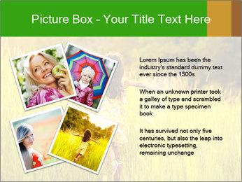 Girl running PowerPoint Template - Slide 23