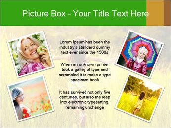 Girl running PowerPoint Template - Slide 24