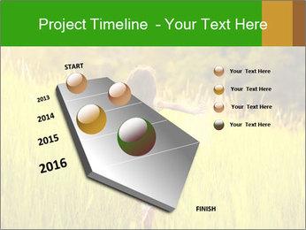 Girl running PowerPoint Template - Slide 26