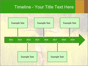 Girl running PowerPoint Template - Slide 28