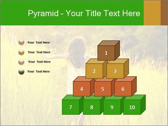 Girl running PowerPoint Template - Slide 31