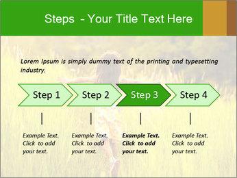 Girl running PowerPoint Template - Slide 4