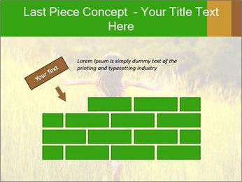 Girl running PowerPoint Template - Slide 46