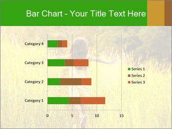 Girl running PowerPoint Template - Slide 52
