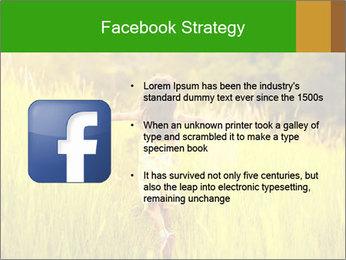 Girl running PowerPoint Template - Slide 6