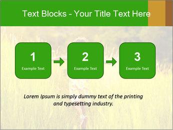 Girl running PowerPoint Template - Slide 71