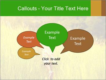 Girl running PowerPoint Template - Slide 73