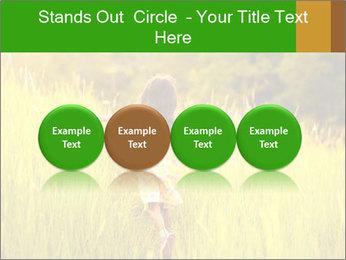 Girl running PowerPoint Template - Slide 76