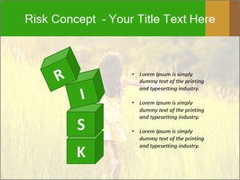 Girl running PowerPoint Template - Slide 81
