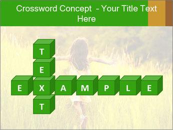 Girl running PowerPoint Template - Slide 82