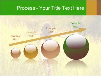 Girl running PowerPoint Template - Slide 87