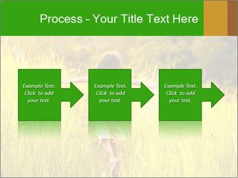 Girl running PowerPoint Template - Slide 88