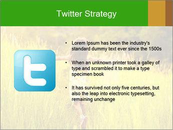 Girl running PowerPoint Template - Slide 9