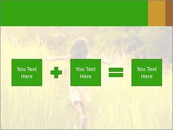 Girl running PowerPoint Template - Slide 95