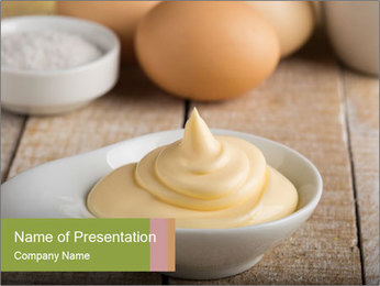 Mayonnaise PowerPoint Template - Slide 1