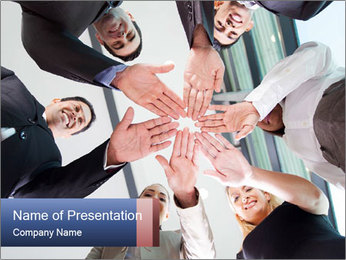 Hands together PowerPoint Templates - Slide 1