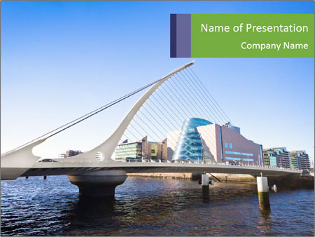 Bridge in Dublin PowerPoint Templates