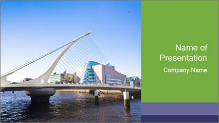 Bridge in Dublin PowerPoint Template