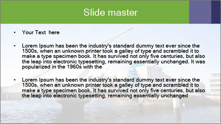 Bridge in Dublin PowerPoint Template - Slide 2