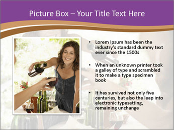 Woman serving red wine PowerPoint Template - Slide 13