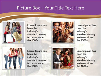 Woman serving red wine PowerPoint Template - Slide 14
