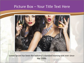 Woman serving red wine PowerPoint Template - Slide 15