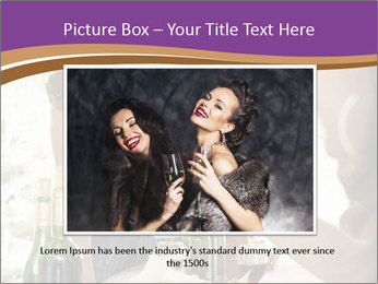Woman serving red wine PowerPoint Template - Slide 16